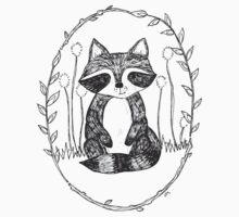 Portrait of a Raccoon Kids Tee