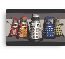 5 Shades of Dalek Canvas Print