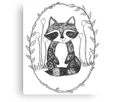 Portrait of a Raccoon Canvas Print