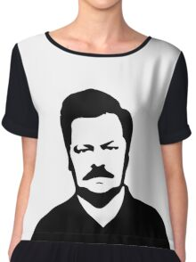 Ron Swanson - Parks and Recreation Chiffon Top