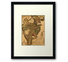 Map Of Boston 1814 Framed Print
