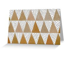 Natural Tribal Watercolor Triangles Greeting Card