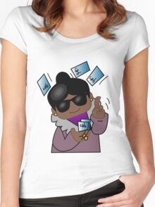 Spending the Kids' Inheritance - Black Momma/Nanna Women's Fitted Scoop T-Shirt