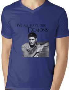We all have our demons - Dean Winchester Mens V-Neck T-Shirt