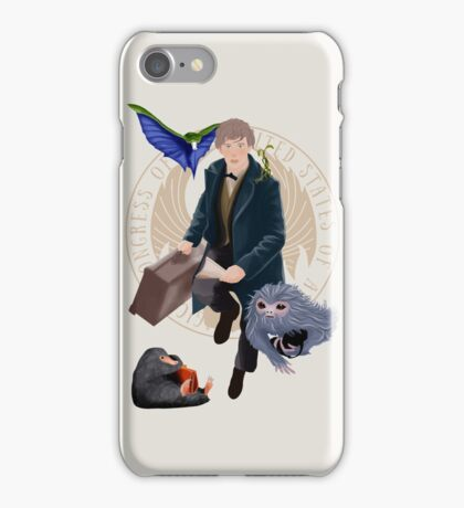 newt & the gang iPhone Case/Skin