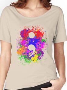 Semicolon Paint Splatter Women's Relaxed Fit T-Shirt