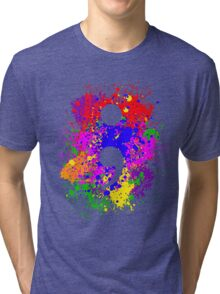 Semicolon Paint Splatter Tri-blend T-Shirt