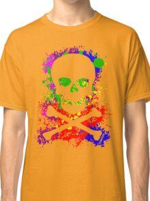 Paint Splatter Skull Classic T-Shirt