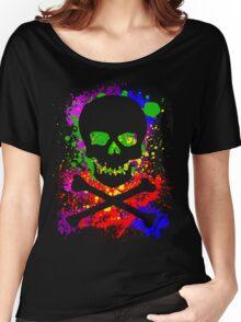 Paint Splatter Skull Women's Relaxed Fit T-Shirt