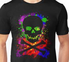 Paint Splatter Skull Unisex T-Shirt