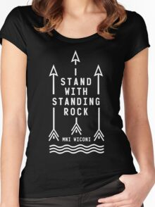 Shailene Woodley - Official Standing Rock Shirt Women's Fitted Scoop T-Shirt