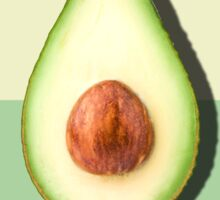 Avocado Half Slice Tropical Fruit Sticker