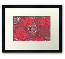Snowflakes in Holiday Red Framed Print