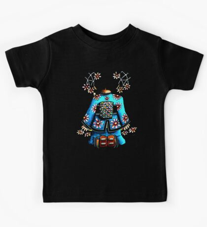 Asia Blue on Black TShirt by Karin Taylor Kids Tee