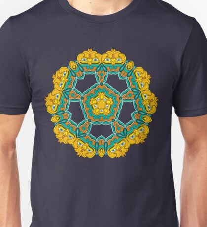 Psychedelic jungle kaleidoscope ornament 3 Unisex T-Shirt