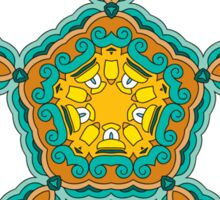 Psychedelic jungle kaleidoscope ornament 3 Sticker