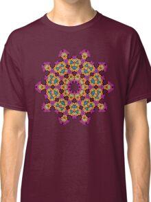 Psychedelic jungle kaleidoscope ornament 4 Classic T-Shirt