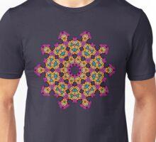 Psychedelic jungle kaleidoscope ornament 4 Unisex T-Shirt