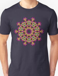 Psychedelic jungle kaleidoscope ornament 4 T-Shirt