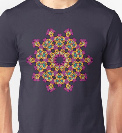 Psychedelic jungle kaleidoscope ornament 4 Unisex T-Shirt