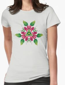 Psychedelic jungle kaleidoscope ornament 5 Womens Fitted T-Shirt
