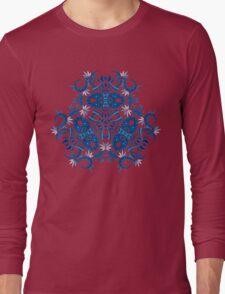 Psychedelic jungle kaleidoscope ornament 7 Long Sleeve T-Shirt