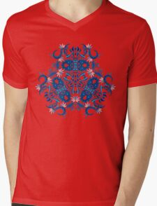 Psychedelic jungle kaleidoscope ornament 7 Mens V-Neck T-Shirt