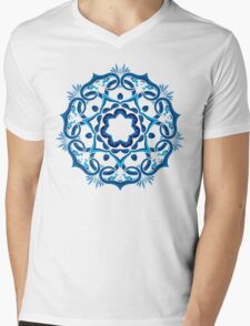 Psychedelic jungle kaleidoscope ornament 9 Mens V-Neck T-Shirt