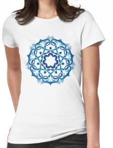Psychedelic jungle kaleidoscope ornament 9 Womens Fitted T-Shirt