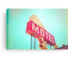 Vintage Americana Motel Sign Metal Print