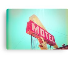 Vintage Americana Motel Sign Canvas Print