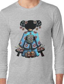 Asia Blue Doll (large design) Long Sleeve T-Shirt