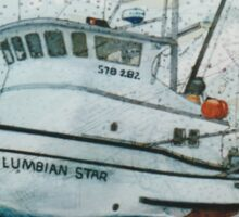 COLUMBIAN STAR Fishing Boat Cathy Peek Nautical Chart Map Oregon Sticker
