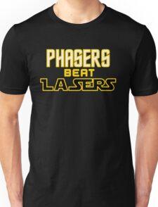 Phasers Beat Lasers Unisex T-Shirt