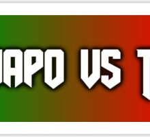 El Chapo vs Trump Sticker