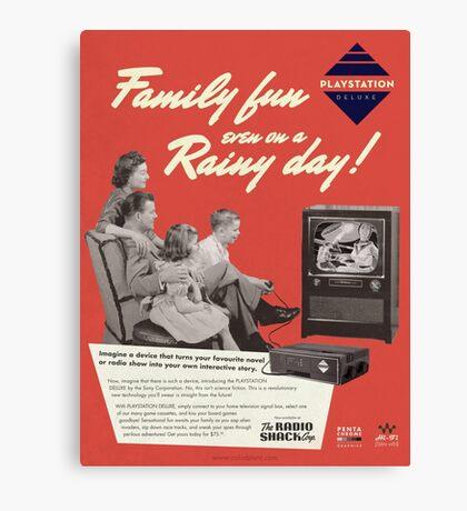 Neo Retro - 1960s PlayStation Ad Canvas Print