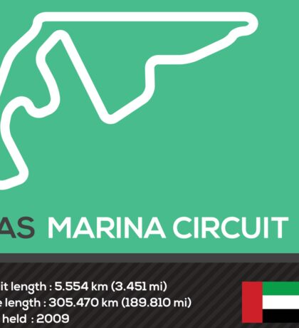 Yas marina circuit - Abu Dhabi Sticker
