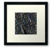 Dark Green Feathers Framed Print