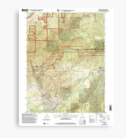 USGS TOPO Map California CA Westville 102142 2000 24000 geo Canvas Print