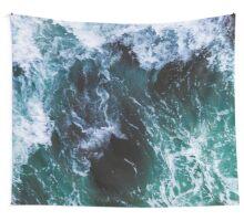 Blue Ocean Waves, Sea Photography, Seascape Wall Tapestry