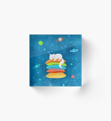 Sleeping Cat - Universe Acrylic Block
