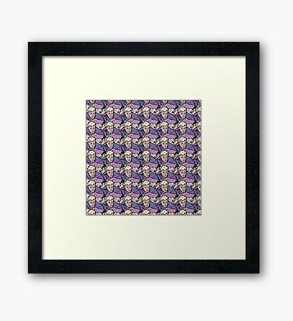 Hawkeye Clint Barton pattern  Framed Print
