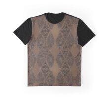 Brown Tribal Mosaic Graphic T-Shirt