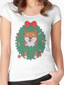 Hanging Through The Festive Season Women's Fitted Scoop T-Shirt