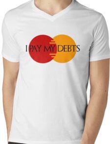 I Pay My Debts Mens V-Neck T-Shirt
