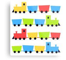 Cute colorful vehicles set cartoon Illustration Metal Print