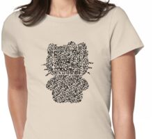 QR Soft Kitty Womens Fitted T-Shirt