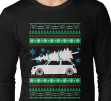 Christmas Car Ugly Sweater Mini Long Sleeve T-Shirt