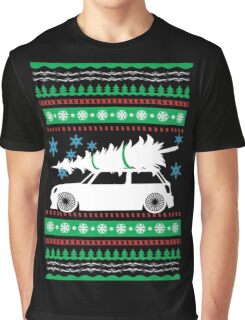 Christmas Car Ugly Sweater Mini Graphic T-Shirt