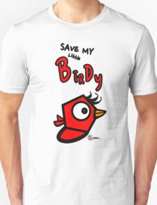 Save My Little Birdy Red Bird Game Title (EG-000004) Unisex T-Shirt